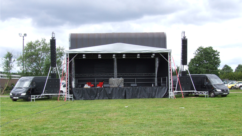 Stage Hire 4 with PA Towers